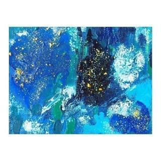 【原画*額付き】青の世界(絵画/タペストリー)