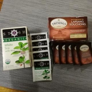 ミント白茶+ラプサンスーチョン 各5袋(茶)