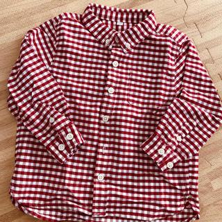 MUJI (無印良品) - 無印 チェックシャツ 100