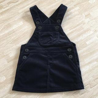 MUJI (無印良品) - 無印良品 ジャンパースカート 80㎝ 紺色