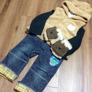 シマムラ(しまむら)のくま手袋&しまむらパンツ2枚セット★フェリシモ西松屋スキップランドユニクロ好きに(パンツ)