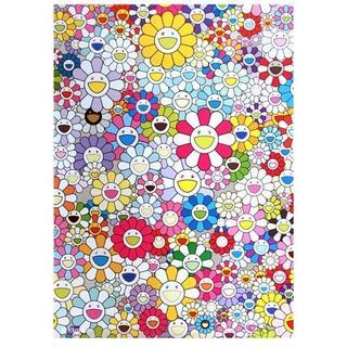 村上隆 『お花の笑顔』 70cm 特大 キャンパス地 厚手 アート ポスター(絵画/タペストリー)