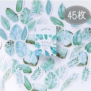 《11/18迄》15柄 ❁ 45枚 ❁ 植物フレークシール(シール)