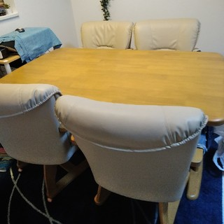 ベリーズ様専用 千葉市 回転椅子 ダイニングテーブルセット(ダイニングテーブル)