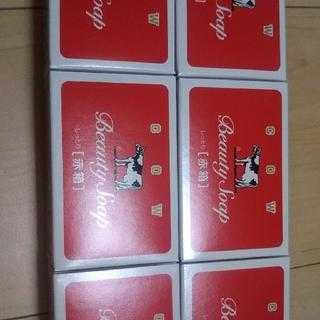 ギュウニュウセッケン(牛乳石鹸)のカウブランド 赤箱 6個(ボディソープ / 石鹸)