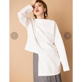 アシンメトリーTシャツ ホワイト オズモーシス