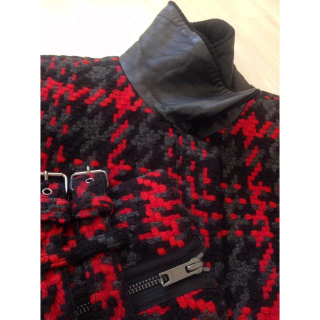 DKNY WOMEN(ダナキャランニューヨークウィメン)のDKNY チェック柄 厚手ツイード ブルゾン S レディースのジャケット/アウター(ライダースジャケット)の商品写真