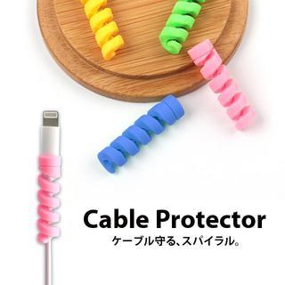 【新品】断線防止に! ケーブルプロテクター 4個セット(その他)