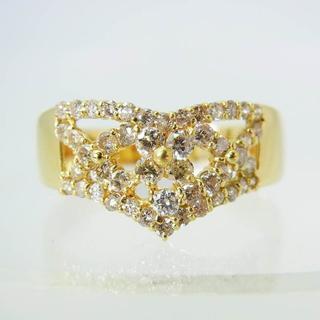 K18 ダイヤモンド リング 25号 [f325-1] (リング(指輪))