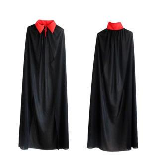 コスプレ マント ドラキュラ 黒 ホラー 衣装 ロングマント 130-150cm(衣装)