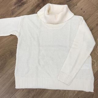 ショコラフィネローブ(chocol raffine robe)の未使用*タートルネック ニット ホワイト(ニット/セーター)