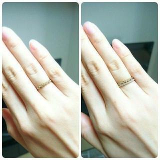 アガット(agete)の【定価48,600円】アガット K18 ダイヤモンド リング 7号(リング(指輪))