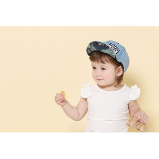 【大人気!】 ベビー 帽子 キャップ デニム かわいい yi12(帽子)