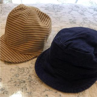 ベビーギャップ(babyGAP)のベビーギャップ 帽子 リバーシブル他 2点セット(帽子)