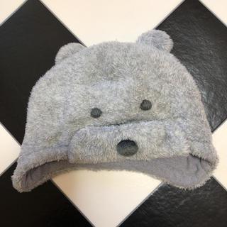 ミキハウス(mikihouse)のミキハウス ニット帽 クマ耳 グレー ベビー(帽子)