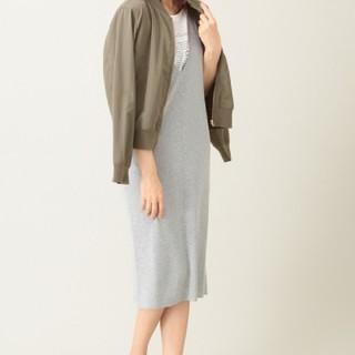 ショコラフィネローブ(chocol raffine robe)のネックニットノースリーブワンピース(ロングワンピース/マキシワンピース)
