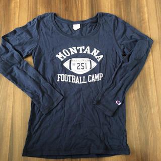 チャンピオン(Champion)のチャンピオン ネイビー ロングTシャツ Lサイズ(Tシャツ(長袖/七分))