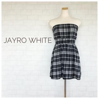 ジャイロホワイト(JAYRO White)の☆人気☆JAYRO Whiteジャイロホワイト チェック チューブトップ ワンピ(ミニワンピース)