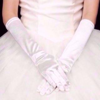 新品 ウエディング グローブ 高級 上品 手袋 結婚式 パーティー ドレス 12(ウェディングドレス)