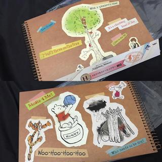 ディズニー(Disney)のくまのプーさん スクラップブック ノート(ノート/メモ帳/ふせん)