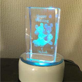ディズニー(Disney)のディズニー ガラスのライト(キャラクターグッズ)