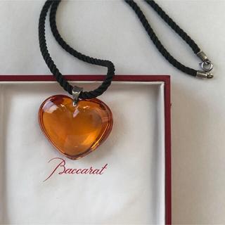 バカラ(Baccarat)のバカラ ネックレス (♡琥珀カラー silver925)(ネックレス)