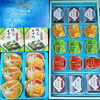 ナカムラヤ(中村屋)の新宿中村屋 抹茶くず餅&水菓子詰め合わせ🍊🍒送料 込み(菓子/デザート)
