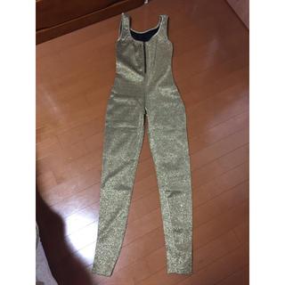 ジャンプスーツ ゴールドラメ  コスチューム(衣装)
