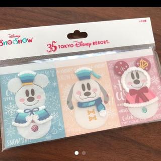 ディズニー(Disney)の【新商品☻】ディズニーリゾートディズニークリスマス2018  メモ帳(キャラクターグッズ)