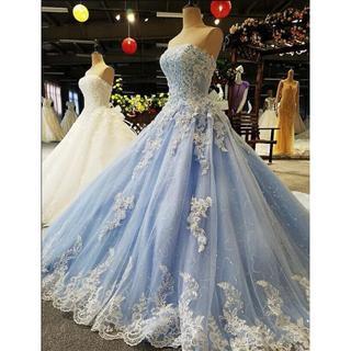 ウェディングドレス  カラードレス プリンセスタイプ  トレーン(ウェディングドレス)