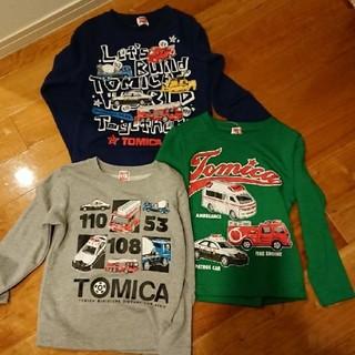 タカラトミー(Takara Tomy)の新品 トミカ トレーナー 3セット 110㎝(Tシャツ/カットソー)