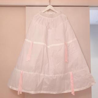 コシノジュンコ(JUNKO KOSHINO)の美品 ドレスブラック ペチコート パニエ ワイヤー 9号 説明書 専用袋(ウェディングドレス)