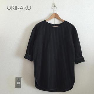 オキラク(OKIRAKU)のokiraku オキラク ストライプ チュニック(チュニック)