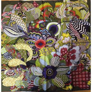 エルメス(Hermes)のエルメス スカーフ 90 インドの花(バンダナ/スカーフ)