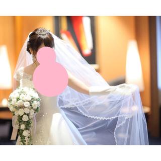 タカミ(TAKAMI)のタカミブライダル ロングベール 3m 小花レース パールベール(ウェディングドレス)