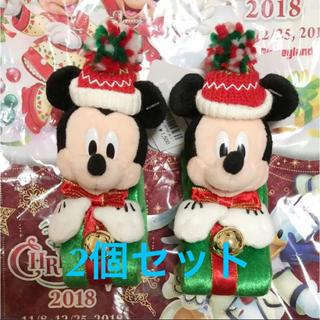ディズニー(Disney)のディズニー クリスマス ぬいぐるみバンド ミッキー 2個セット(ぬいぐるみ)