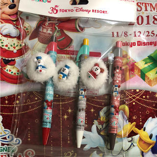 ディズニー(Disney)のスノースノー  ボールペン ディズニー クリスマス 2018(キャラクターグッズ)