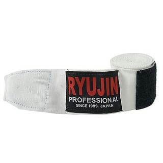 リュウジン RYUJIN ボクシング練習用バンテージ 伸縮 白(ボクシング)