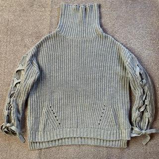 チルアナップ(CHILLE anap)のチル 袖スピンドルニット(ニット/セーター)