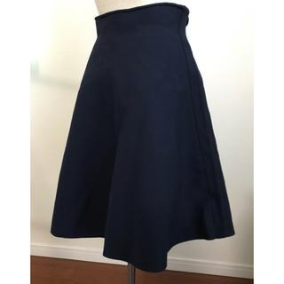 デミルクスビームス(Demi-Luxe BEAMS)のデミルクス ビームス  フレアスカート ネイビー 美品(ひざ丈スカート)