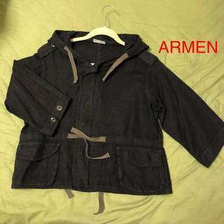 アーメン(ARMEN)のアーメン armen リネン パーカー ジャケット プルオーバー(ブルゾン)