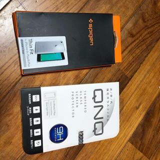 シュピゲン(Spigen)のSpigen Thin Fitとガラスフィルム iphone6/6s plus (iPhoneケース)
