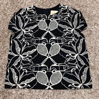 シアタープロダクツ(THEATRE PRODUCTS)のカットワークレースブラウス ブラック(シャツ/ブラウス(半袖/袖なし))