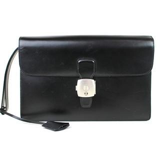 ダンヒル(Dunhill)のダンヒル セカンドバッグ クラッチバッグ 黒 美品 h325 【中古】(セカンドバッグ/クラッチバッグ)