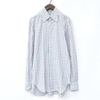 バルバ(BARBA)の【イタリア製】BARBA バルバ ボタンダウンシャツ チェックシャツ 40(シャツ)