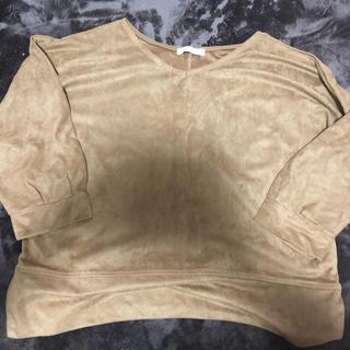 ショコラフィネローブ(chocol raffine robe)のスエードトップス(カットソー(長袖/七分))