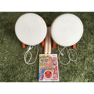 Wii - 太鼓の達人 太鼓×2 +ソフト + バチ