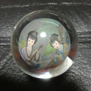 中国内画  女性2人の演奏(絵画/タペストリー)