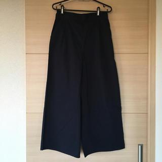 ショコラフィネローブ(chocol raffine robe)のショコラフィネローブ ガウチョパンツ ワイドパンツ ネイビー(カジュアルパンツ)