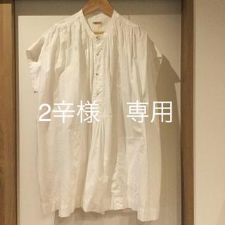 キャピタル(KAPITAL)のKAPITAL キャピタル 白 シャツ  サイズ 1  お値下げしました。(シャツ/ブラウス(半袖/袖なし))
